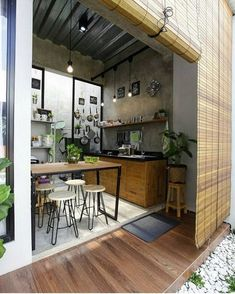 Luxury Kitchens Don't feel limited by a small kitchen space. Get design inspiration from these charming small kitchen designs. Luxury Kitchen Design, Luxury Kitchens, Interior Design Kitchen, Dream Kitchens, House Farm, Diy Outdoor Kitchen, Outdoor Cooking, Outdoor Decor, Scandinavian Kitchen