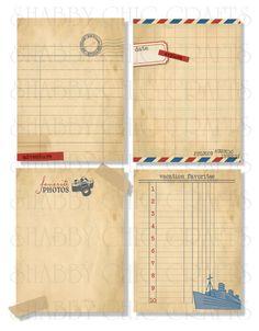 Chic Tags - Delightful Paper Tags - Bon Voyage Vintage Cards - Set of 4 at Scrapbook.com $3.49