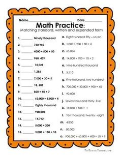 Savings Challenge Discover Reading and Writing Numbers in Expanded Form Standard Form and Written Form FREE - Reading and Writing Numbers in Expanded Form Standard Form and Written Form - 8 activities 19 pages. Decimals Worksheets, Place Value Worksheets, 2nd Grade Math Worksheets, Math Place Value, 3rd Grade Math, Math Class, Place Values, Sixth Grade, Grade 3