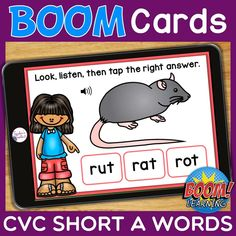 THIS IS AN INTERACTIVE DIGITAL RESOURCE. Download the preview to play a shortened version of the Boom Deck – this will help you decide if the resource is suitable for your students. ABOUT THIS BOOM DECK: Students will look at the picture, listen to the word, then tap on the word with the short A sound, from a choice of three words.