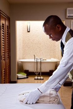 The finest butlers just for you! #sandalslatoc | Sandals Resorts | St. Lucia