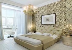 Contoh motif wallpaper dinding kamar tidur elegan bagus