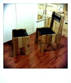 Wierito and Wierette - #upcycled #pallet #fridge #seats