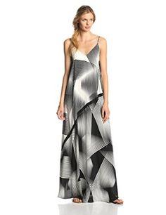 HALSTON HERITAGE Women's Sleeveless Flowy Printed Evening Dress
