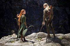 Nova imagem de O Hobbit: A Desolação de Smaug com Legolas e Tauriel
