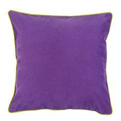 Housse de coussin VELVET coloris violet - by Barbara Becker