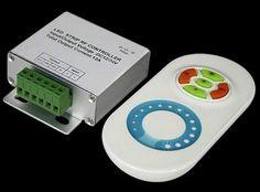 12 Volt LED Strip Controller / Dimmer mit Fernbedienung / Netzteil 12V / 96 Watt