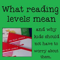 Reading levels can be a hot topic this time of year. That Fun Reading Teacher explains their purpose, and why discussing them should be left to the grown-ups. (Unless, of course, you're comfortable with wearing the tag on the outside of your jeans, because, really, isn't it kind of the same?)