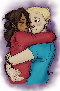 Piper and jason Piper And Jason, Jason Grace, Rick Riordan, Fan Art, Dibujos Percy Jackson, Couple Noir, Interracial Art, The Lost Hero, Sea Of Monsters