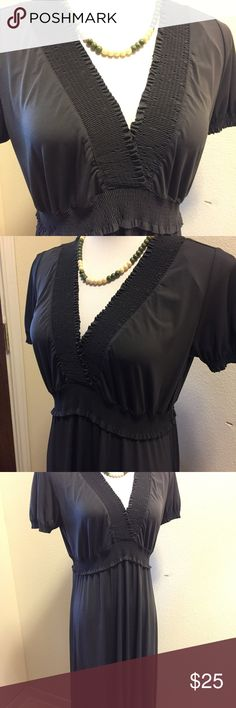 Dark Gray Dress Dress is dry clean only. Suzi Chin for Maggy Boutique Dresses