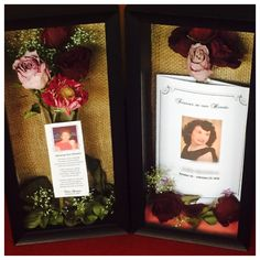 Using flowers from Grandmas funeral made these shadow boxes. Memorial ... & shadow boxes for funerals | Here is the shadow box memorial that I ... Aboutintivar.Com