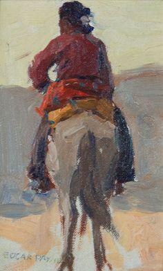 EDGAR ALWIN PAYNE (American, 1883-1947)  Navajo on Horseback