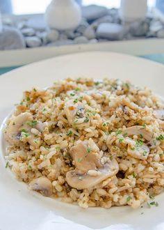 Receta Arroz integral con Quinoa y Champiñones