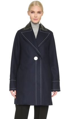 EDUN Cashmere Blend Pea Coat