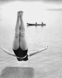 hauntedbystorytelling:  Vern C. Gorst :: Young Woman in midair...