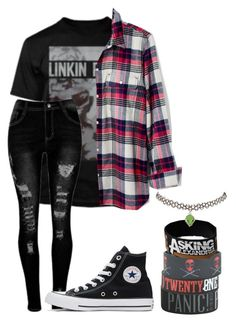 """""""Emo"""" by kawaii-neko-patato ❤ liked on Polyvore featuring Madewell, Converse, Hot Topic, Marvel and Charlotte Russe"""