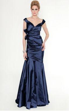 Teri Jon blue evening gown #terijon #blue #evening gown Style #37008