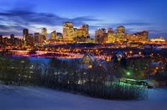 Edmonton Winter Skyline Canvas Art - Corey Hochachka Design Pics x What Dreams May Come, Western Canada, Tourist Spots, Banff National Park, Canada Travel, Real Estate Marketing, Great Places, New York Skyline, Places To Visit