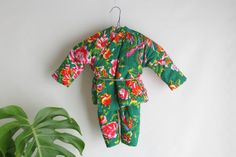 Vintage childs playsuit. Boho baby. Green by SwanDiveVintage