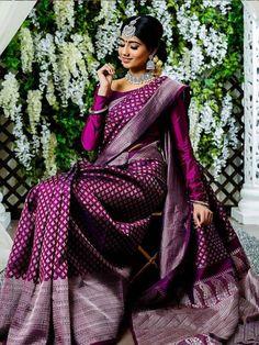 Pure kanchipuram silk sarees For Price Pls watspp to 8618577422 . South Indian Wedding Saree, Indian Bridal Sarees, Bridal Silk Saree, Indian Bridal Outfits, Indian Silk Sarees, Saree Wedding, Bengali Saree, South Indian Sarees, Indian Bridal Fashion