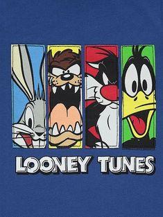 Featuring a panelled front graphic of all their favourite Looney Tunes characters, this long sleeved top has a comfy crew neck cut, making it a perfect layer. Looney Tunes Characters, Looney Tunes Cartoons, Disney Canvas, Disney Art, Cute Disney Wallpaper, Cute Cartoon Wallpapers, Vintage Cartoon, Cartoon Art, Cartoon Illustrations
