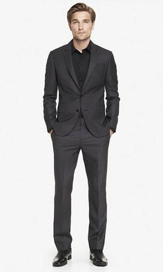 MICRO HOUNDSTOOTH PHOTOGRAPHER SUIT Grey $238