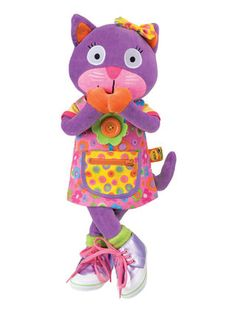 """Learn to Dress Kitty 20"""" Cat & 11 Activities by Alex Toys at Gilt"""
