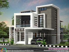 Ultra modern box model Kerala home