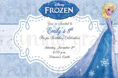 Disney Frozen Sisters Birthday Party Invitations by RayningGrace, $11.00