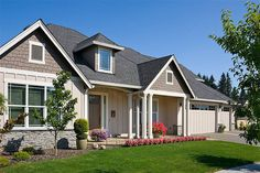 Craftsman Style House Plan - 3 Beds 2.5 Baths 2357 Sq/Ft Plan #48-556 Exterior - Front Elevation - Houseplans.com