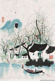 Wu Guanzhong.pic.twitter.com/WbhMKrDs4d Sumi E Painting, Korean Painting, Chinese Landscape Painting, Japan Painting, China Painting, Wu Guanzhong, Tinta China, China Art, Calligraphy Art