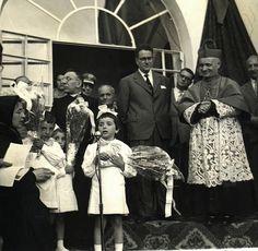 1958 - posa prima pietra nuova scuola materna