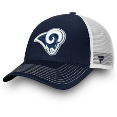 Men s Los Angeles Rams NFL Pro Line by Fanatics Branded Navy White Core  Trucker III Adjustable Snapback Hat f1b552420
