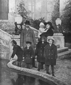 Ex-Emperor Karl of Austria with his wife and children in exile.