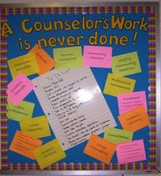 I wil be using some of these tips to help with a bulletin board we are doing this year.  this counseling website easily describes to parents what school counselors do.