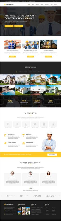 Construction is a premium one page or multi-page #HTML #theme for #Architecture, Engineering and other Construction related services website download now➩ https://themeforest.net/item/construction-ultimate-construction-template/18478061?ref=Datasata