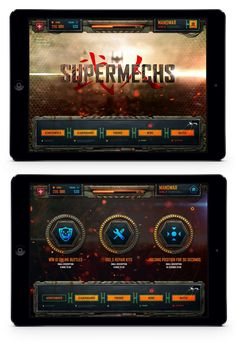 A Robot_UI Screen Everything looks cybernetic which fits into the robot theme…
