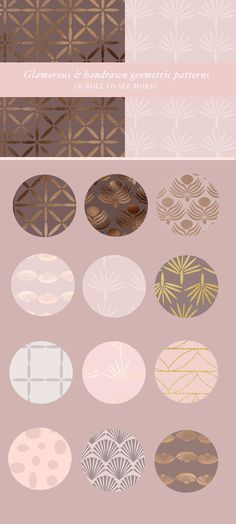 70 Geometric Glam Patterns by Laras Wonderland on @creativemarket