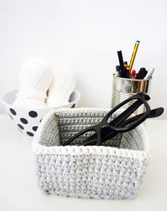 Crocheted Boxes - no pattern