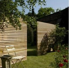 Western red cedar slatted fence