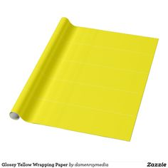 Glossy Yellow Wrapping Paper