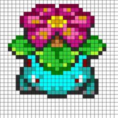 Pokemon Venusaur Fuse Bead Pattern