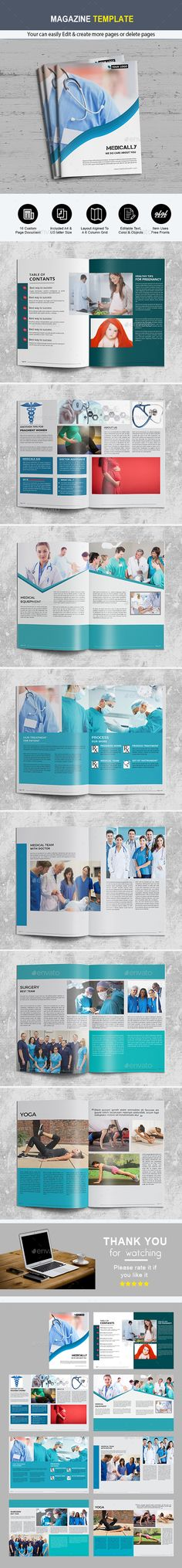 Health Magazine Template - Magazines Print Templates Download here : https://graphicriver.net/item/health-magazine-template/21320249?s_rank=53&ref=Al-fatih