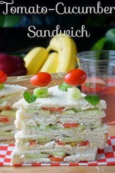 Tomato cucumber Veggie Sandwich | Picnic Food