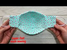 Sewing Projects For Beginners, Sewing Tutorials, Sewing Hacks, Sewing Crafts, Simple Sewing Projects, Easy Face Masks, Diy Face Mask, Beautiful Mask, Diy Mask