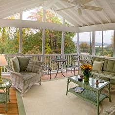 Browse all outdoor ceiling fans at Lamps Plus - of styles for the patio, porch and more. Screened Porch Designs, Screened In Deck, Backyard Patio Designs, Pergola Patio, Screened Porches, Screened Porch Furniture, Screened Porch Decorating, Outdoor Rooms, Outdoor Living