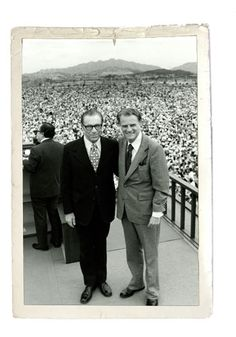 George Beverly Shea & Billy Graham in Korea, 1973.