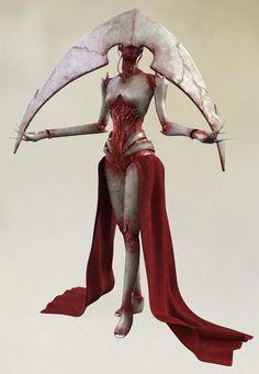 """""""Elesh Norn, Grand Cenobite"""" Monster Concept Art, Fantasy Monster, Monster Art, Arte Horror, Horror Art, Dark Fantasy Art, Fantasy Artwork, Fantasy Inspiration, Character Design Inspiration"""