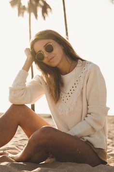 *** Anine Bing Nepal Fringe Sweater - S