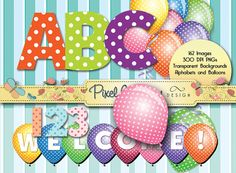 Digital Stamp  Fun With Polka Dots   2 by PixelWhimsyDesign, $5.00